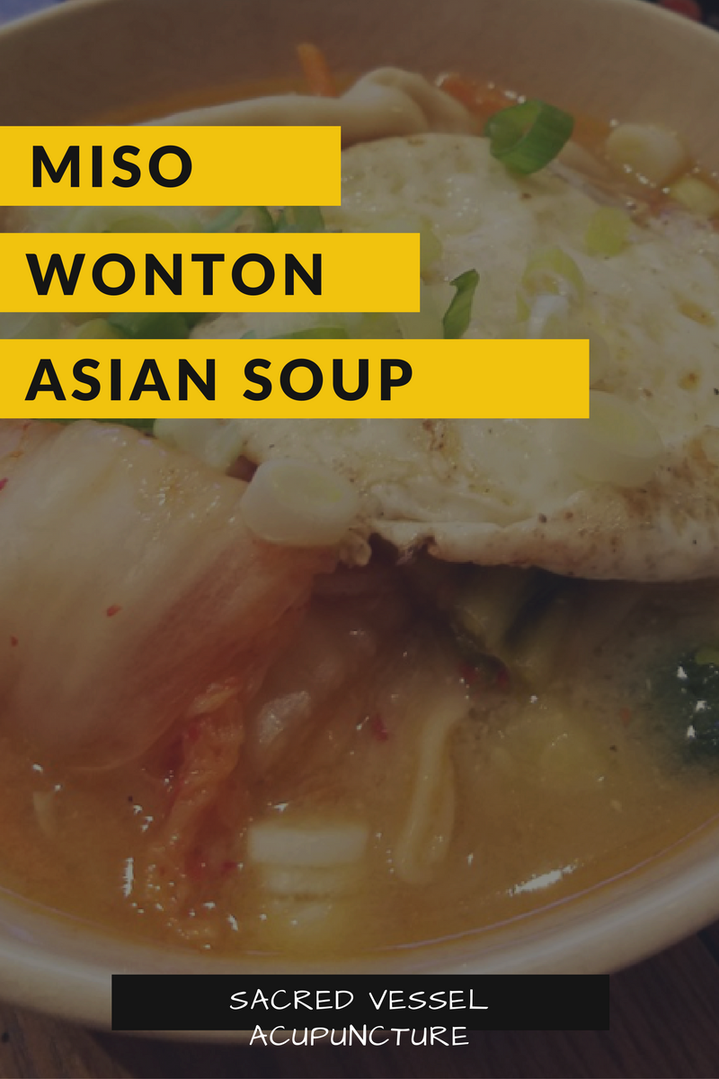 Miso Wonton Asian Soup