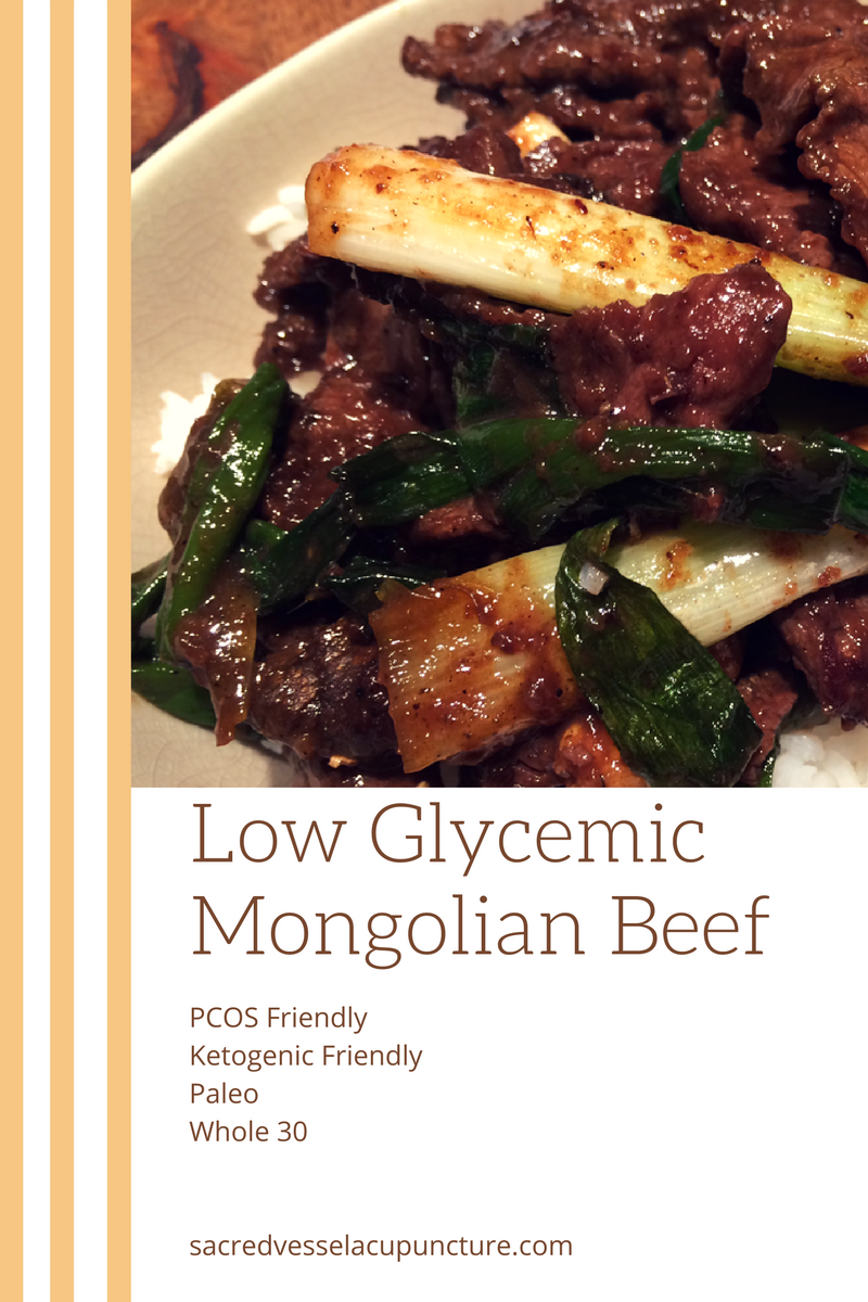 PCOS Ketogenic Whole 30 Mongolian Beef